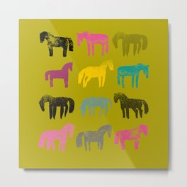 Colorful ponies Metal Print