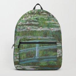 Claude Monet The Japanese Footbridge 1899 Painting Backpack