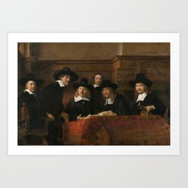 The Syndics of the Amsterdam Drapers' Guild Art Print