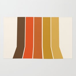 Righteous - 70s style throwback rainbow art 1970s minimalist art Rug
