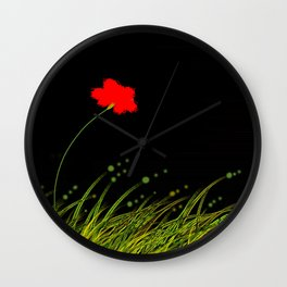 A red flower Wall Clock
