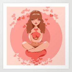 Love Support Art Print