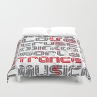 paramore Duvet Covers featuring Trust in Trance Music by Sitchko Igor