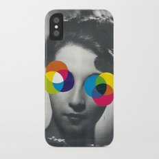 Psychedelic glasses iPhone X Slim Case