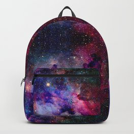 Repeating Galaxy Pattern Backpack