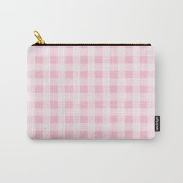Pretty Pink Gingham Pattern Carry-All Pouch