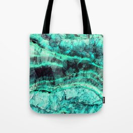 Turquoise onyx marble Tote Bag