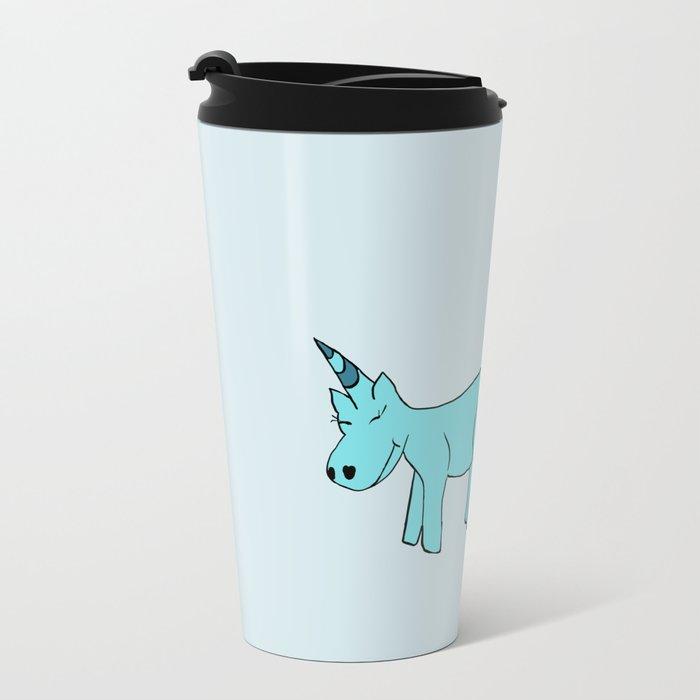 Unicorn Pooping Tacos Metal Travel Mug