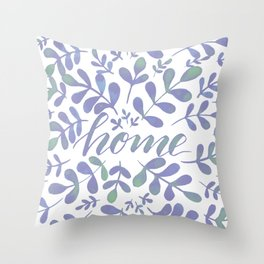 Watercolor home foliage – lilac Throw Pillow