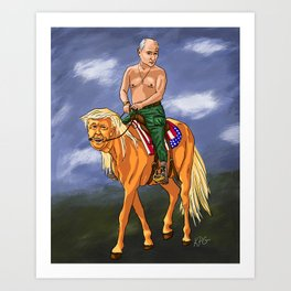 Putin Holds the Reins Art Print