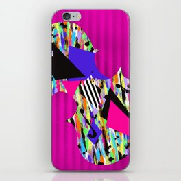 Cello Abstraction on Hot Pink iPhone Skin