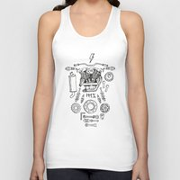 motorcycle Tank Tops featuring Motorcycle by ElaBaer