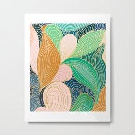 Swirly Interest Metal Print