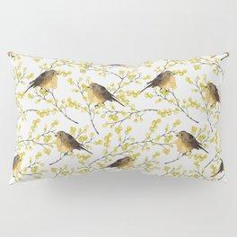 Mimosa and birds Pillow Sham