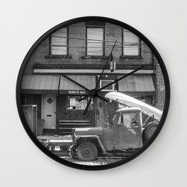 Sunny's Side of the Street Wall Clock