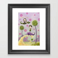 Pink Bubbles Framed Art Print