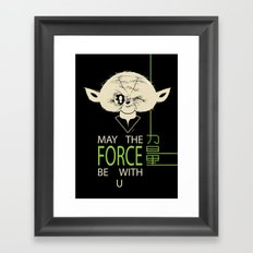 Starwars Yoda - May The Force Be With U Framed Art Print