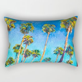 California Beach Palm Trees Rectangular Pillow