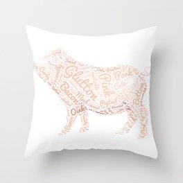 My Spirit Animal is a Pig Throw Pillow
