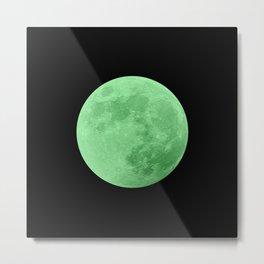 LIME MOON // BLACK SKY Metal Print