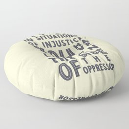 If you are neutral in situations of injustice, Desmond Tutu quote, civil rights, peace, freedom Floor Pillow