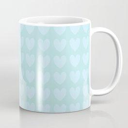 Mint Heart Pattern Coffee Mug