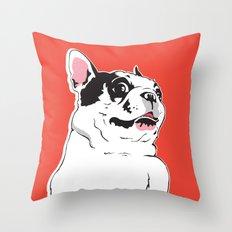 Boston Terrier Side-Eye Throw Pillow