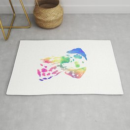 Colorful Dalmatian Rug