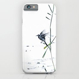 Little Bird (Wagtail - Eurasian Songbird) by The Reeds #decor #society6 #buyart iPhone Case