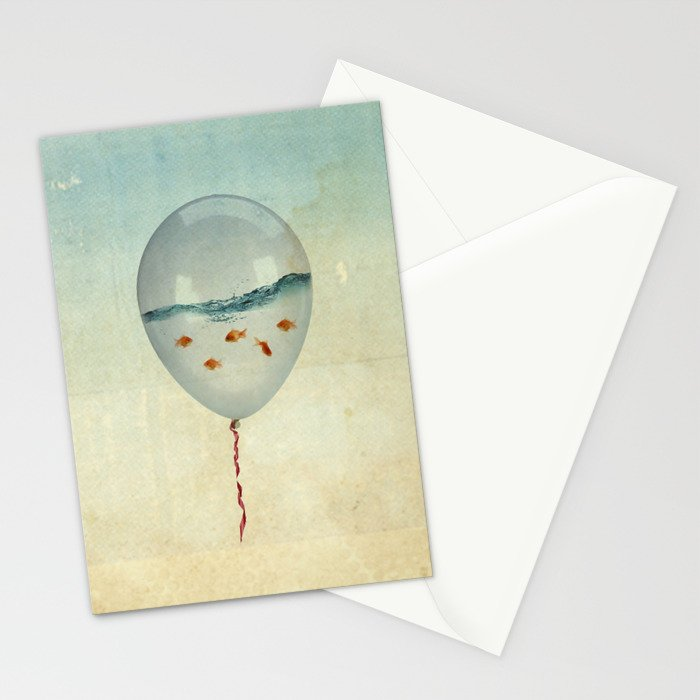 Balloon Fish Stationery Cards