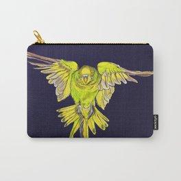 Flying Australian Budgie Bird Parakeet Carry-All Pouch