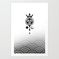 SamGen Logo - White Art Print