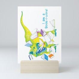 I am a Book-i-vore! Mini Art Print