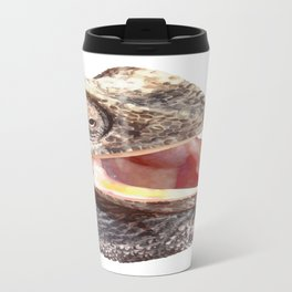 Chameleon with Happy Smiling Expression Vector Travel Mug