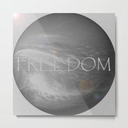 FREEDOM Sphere - GRAY Metal Print