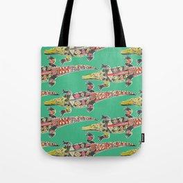 crocodile green Tote Bag