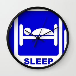eat, sleep, study-hack Wall Clock