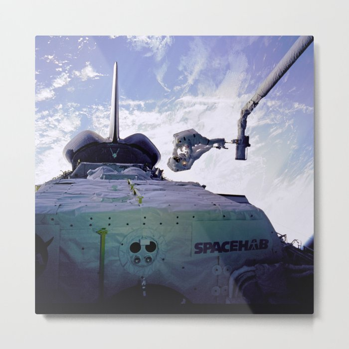 Astronauts Arm in Arm Metal Print