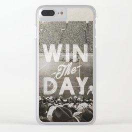 Win the Day Clear iPhone Case