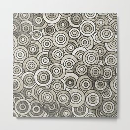 Grey Circle Art Metal Print