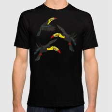 toucan jungle Black MEDIUM Mens Fitted Tee