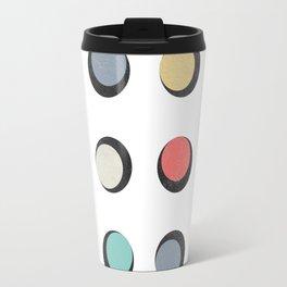 Geometric Round Travel Mug