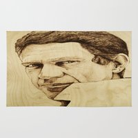 steve mcqueen Area & Throw Rugs featuring Steve McQueen by Farinaz K.