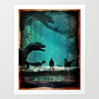 jurassic park Art Prints featuring Jurassic Park by Fan Prints