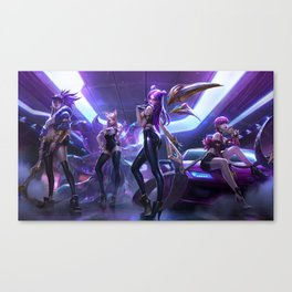 KDA Ahri Akali Evelynn KaiSa Splash Art Wallpaper Background Official Art Artwork League of Legends Canvas Print