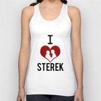 sterek Tank Tops featuring I love Sterek by JulietteGD