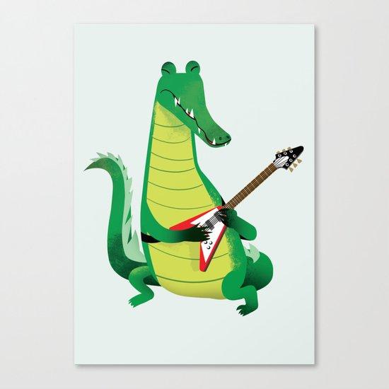 Crocodile Rock Canvas Print