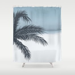 Palm and Ocean Shower Curtain