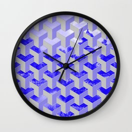Pattern over palace in Kyoto Wall Clock