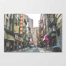 Chinatown NYC Canvas Print